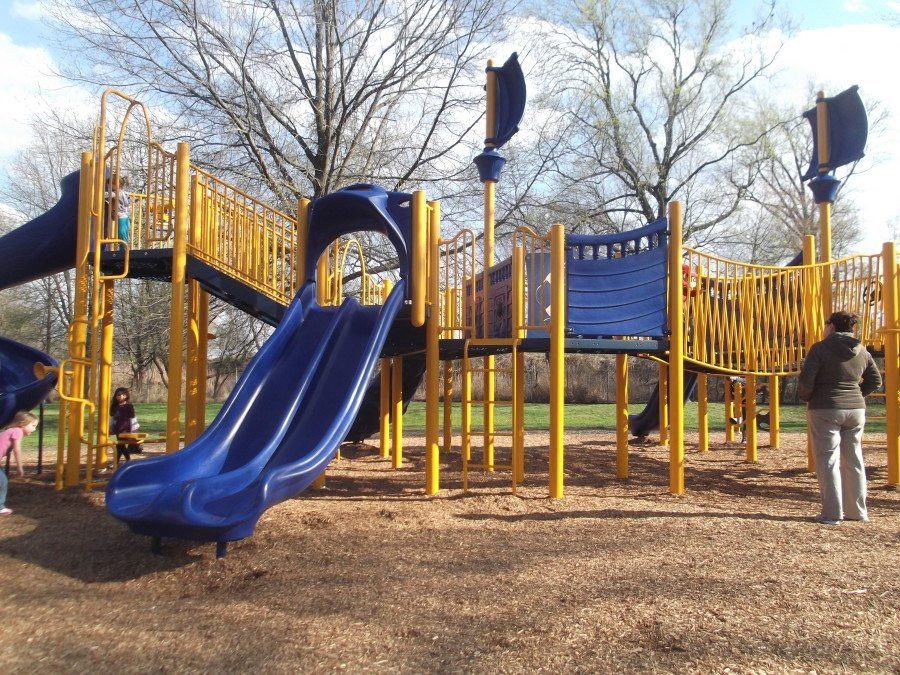Playground area at the park for children 5 to 12-years-old