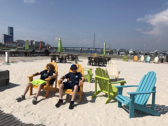 adirondack chairs in Gardener's Basin in Atlantic City