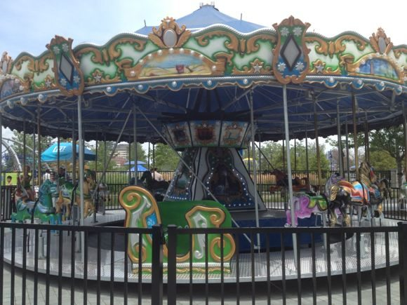 The carousel opens at 1PM daily.