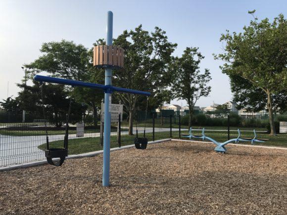 baby swings at Albert I. Allen Memorial Park in North Wildwood