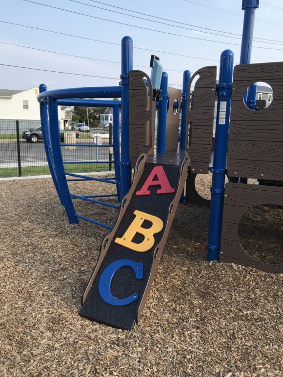 front of ship playground structure at Albert I. Allen Memorial Park in North Wildwood