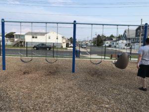 traditional swings at Albert I. Allen Memorial Park in North Wildwood