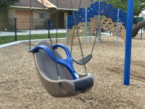 special needs swing at Albert I. Allen Memorial Park in North Wildwood