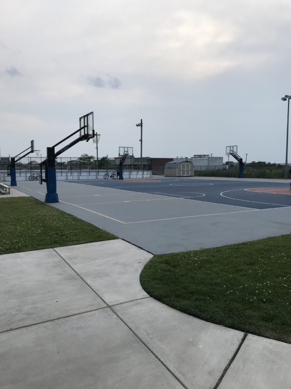 basketball courts at Albert I. Allen Memorial Park in North Wildwood