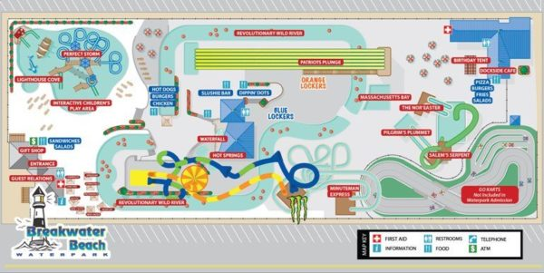 Breakwater Beach Waterpark Map