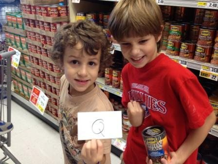 They were so excited to find an item with a Q. It was the last thing we found. |Photo Credit Jersey Family Fun