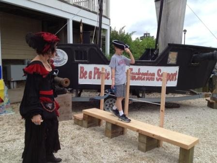 Tuckerton Seaport Pirate Festival walking the plank