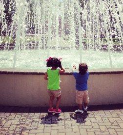 Lyndhurst Town Park water fountain in Lyndhurst in Bergen County, New Jersey