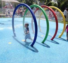 Lyndhurst Town Park Splash Pad in Lyndhurst in Bergen County, New Jersey