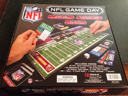 NFL Game Day back of box
