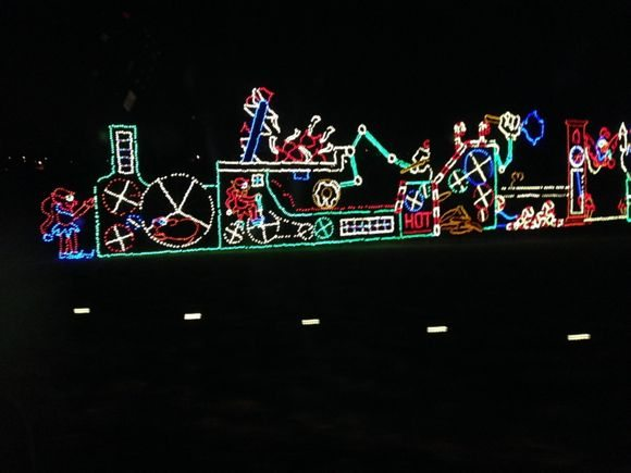 One of our favorite displays at Hershey Sweet Lights.