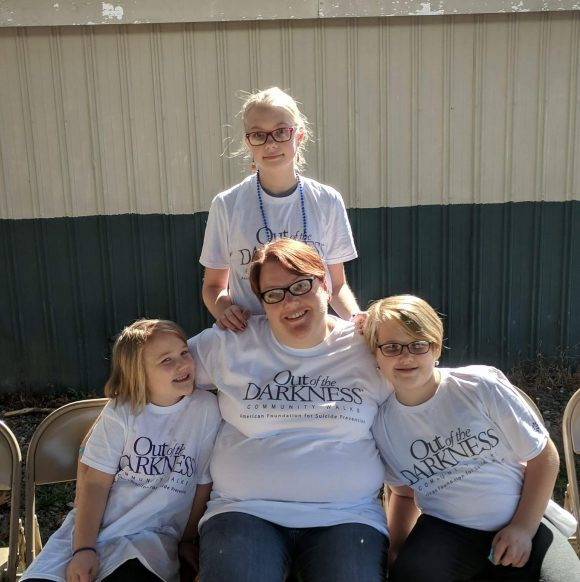 Kids volunteering with American Foundation For Suicide Prevention in New Jersey