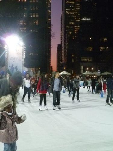 Bryant Park's ice rink.