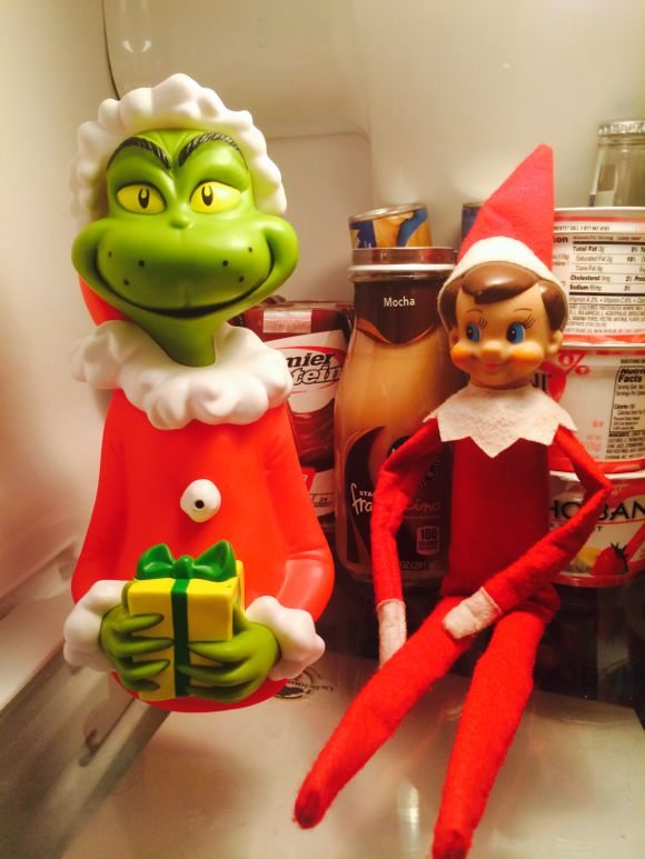 Grinch Elf on the Shelf ideas