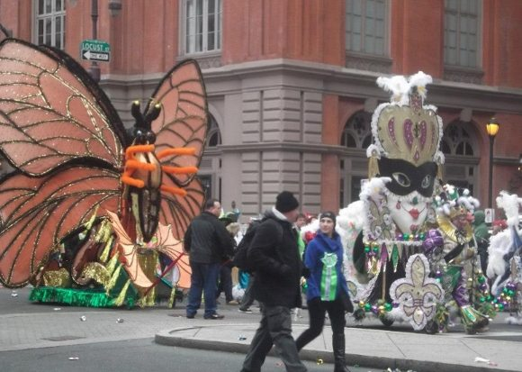 There are so many beautiful floats at the Mummers Parade!