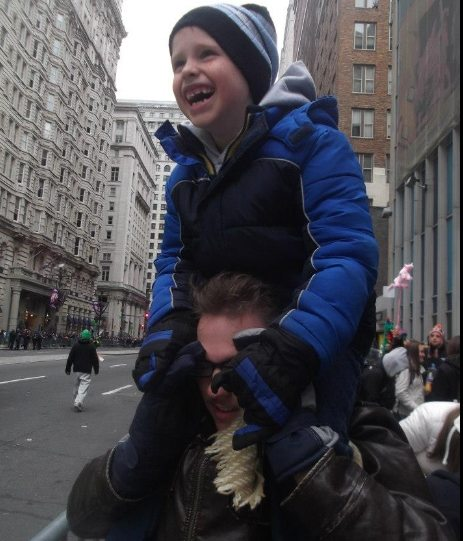 Even without a seat you can have fun watching the Mummers Parade.