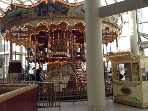 Double Decker Carousel inside the mall!