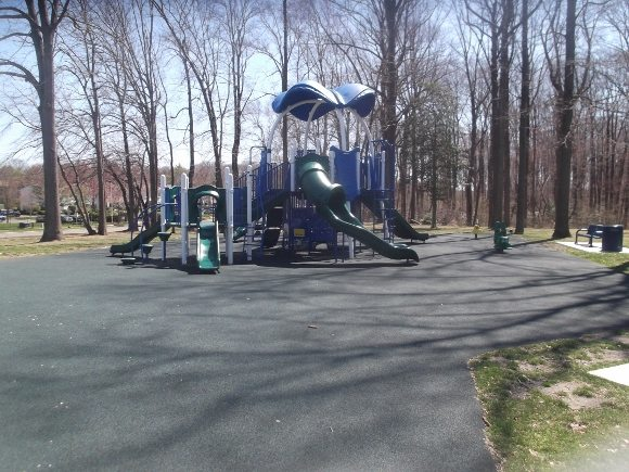 Cherrywood park is small and has many slide together.