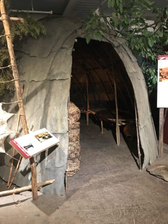 life-sized wigwam Lenapi native american tent