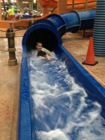 Enclosed Water Slide!