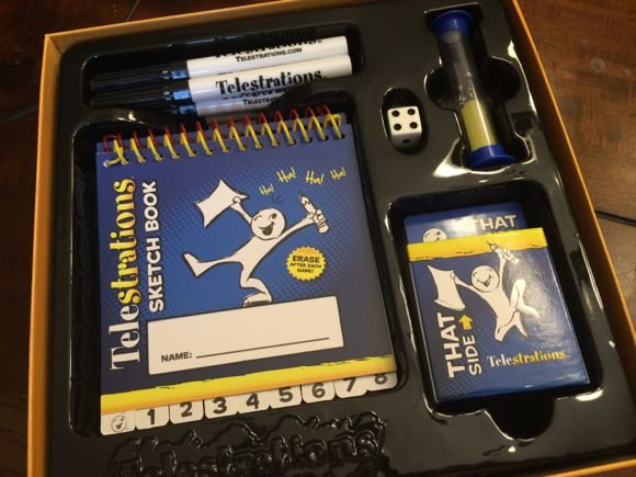 Telestrations contents | Photo Credit Jersey Family Fun