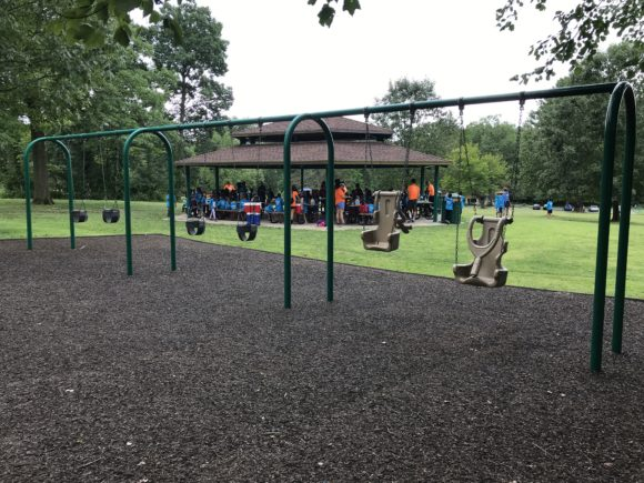 The Loop Playground offers 4 baby swings and 2 special needs swings.
