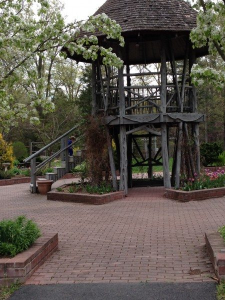 a treehouse from the Hunterdon County arboretum