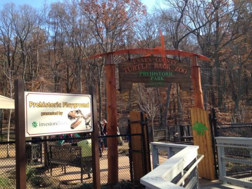 Many treasures greet the kids at the new playground at Turtle Back Zoo.