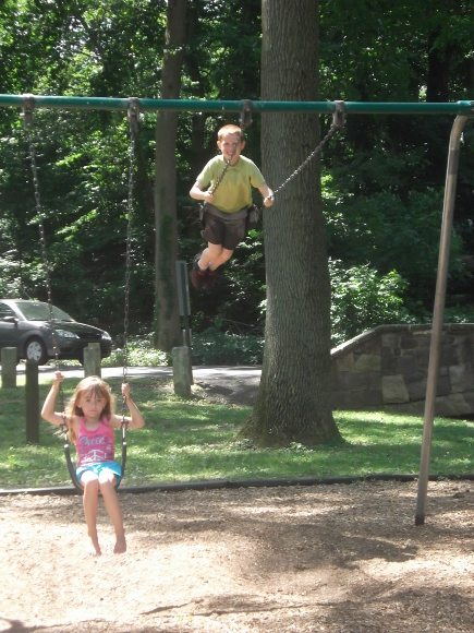Our favorite part is the swings!