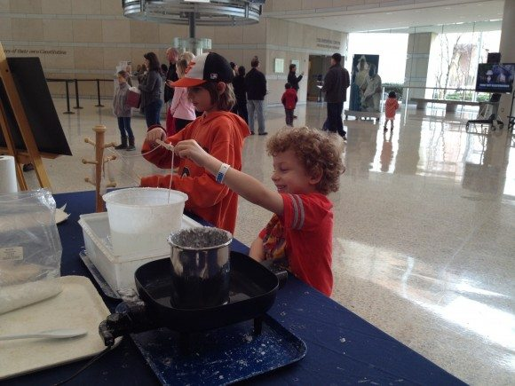 Candle making at the National Constitution Center