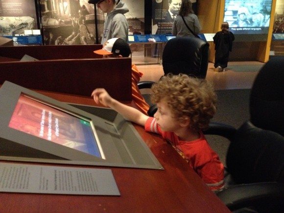 The National Constitution Center in Philadelphia offers so many hands on activities for kids.