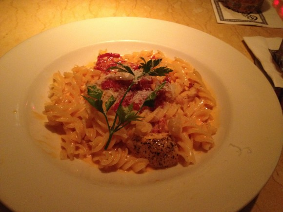 Cheesecake Factory Gluten free pasta with chicken and sundried tomatoes