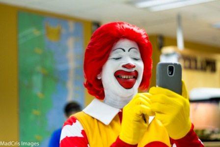 Ronald McDonald Selfie