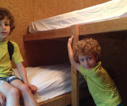 The Baker's Acres Campground bunk bed offers 3 beds.