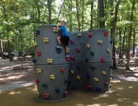 Monmouth County Playgrounds climbing wall shark river