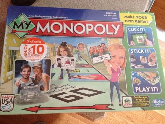 The box for My Monopoly