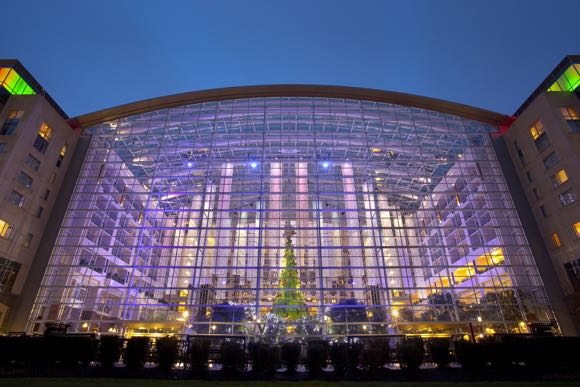 The beautiful atrium at the Gaylord National Hotel |Photo Courtesy Gaylord National