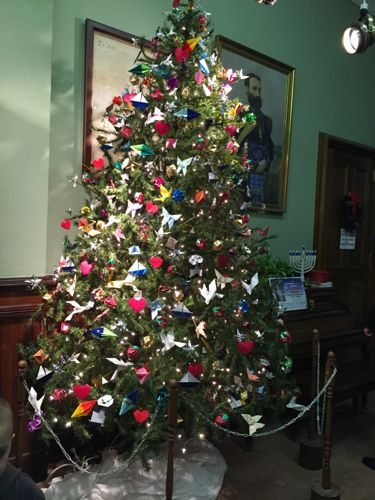 The Barron tree with origami ornaments