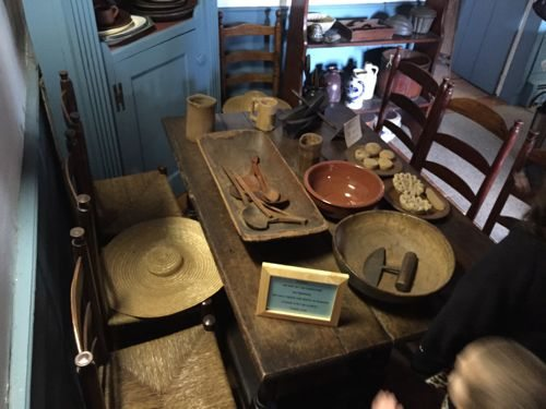 Artifacts on display at the Miller Cory House