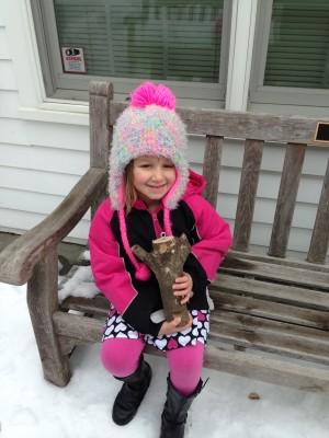 Our super cool bird feeder prize.