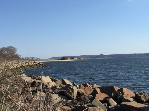 Sandy Hook Lighthouse offers views of the rocky bay