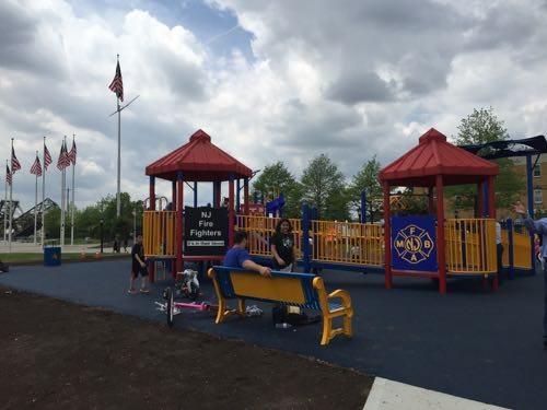 Firefighter built playground