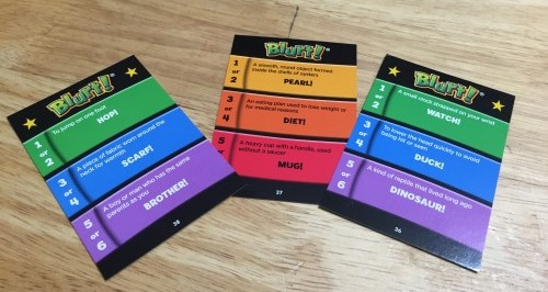 Educational Insights Blurt Game Playing Cards