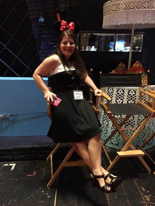 I did NOT miss sitting on the New Amsterdam stage pretending to be a big star.