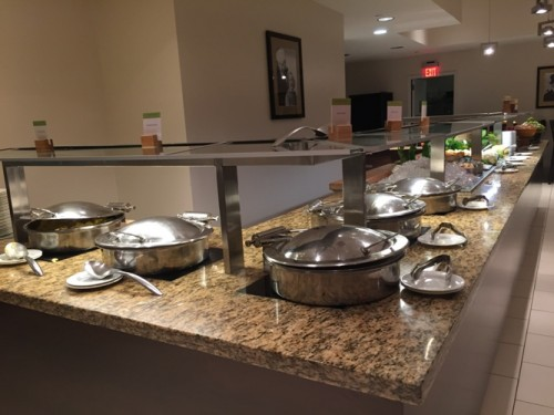 Part of the DoubleTree Suites Times Square Breakfast Buffet