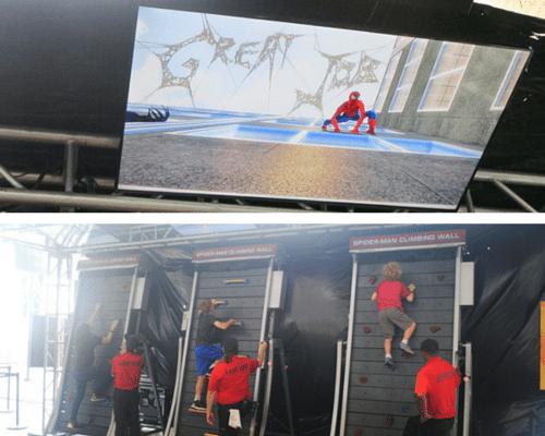 Marvel Experience Spiderman Climbing Wall