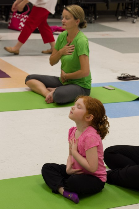 One of my favorite pictures from our yoga class ~ McDonalds Philly Yoga Event - Photos by Swiger Photography