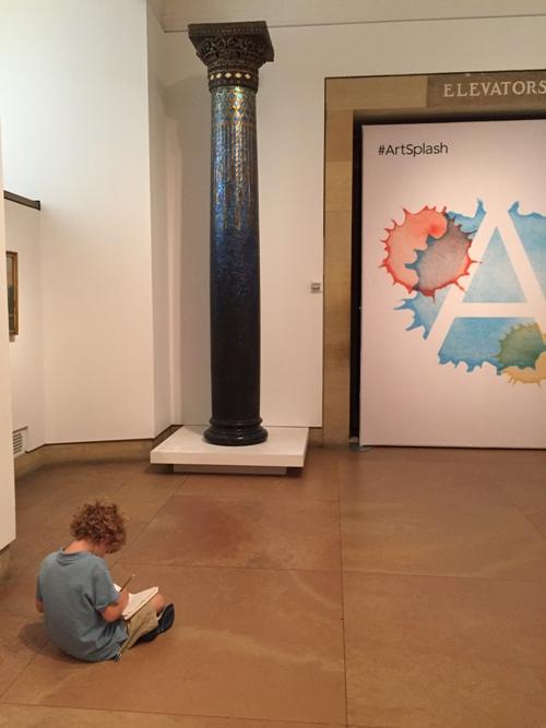 Philadelphia Art Museum Art Splash sketch