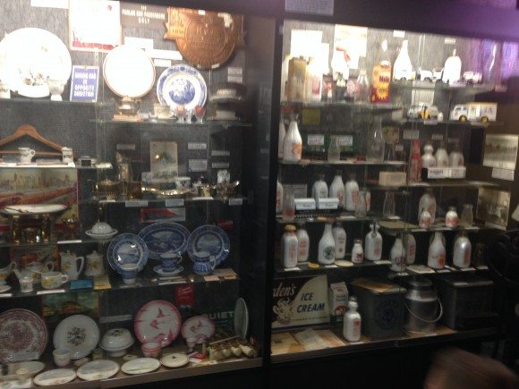 Some of the display cases at the museum.