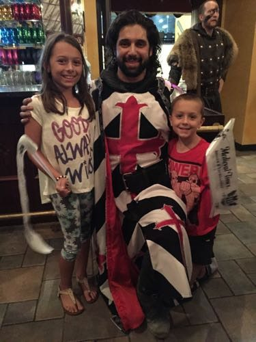 Medieval Times New Jersey melanie's kids with a knight